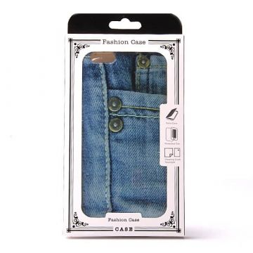 Jeans soepel TPU case jeans iPhone 6 Plus hoesje
