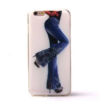 TPU Soft case women jeans iPhone 6 Plus
