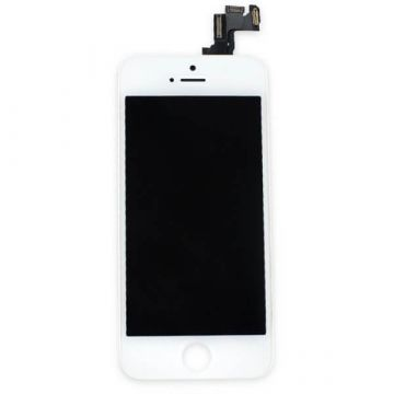 2nd Quality Glass digitizer complete assembled, LCD Retina Screen and Full Frame for iPhone 5S White