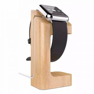 Station de charge e7 stand en bois pour Apple Watch 38mm et 42 mm