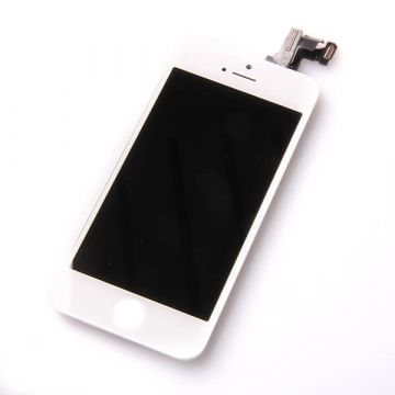1st Quality Glass digitizer complete assembled, LCD Retina Screen and Full Frame for iPhone 5C white