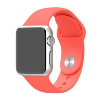Rood roze bandje Apple Watch 38mm siliconen