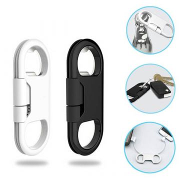 Micro USB cable and bottle opener