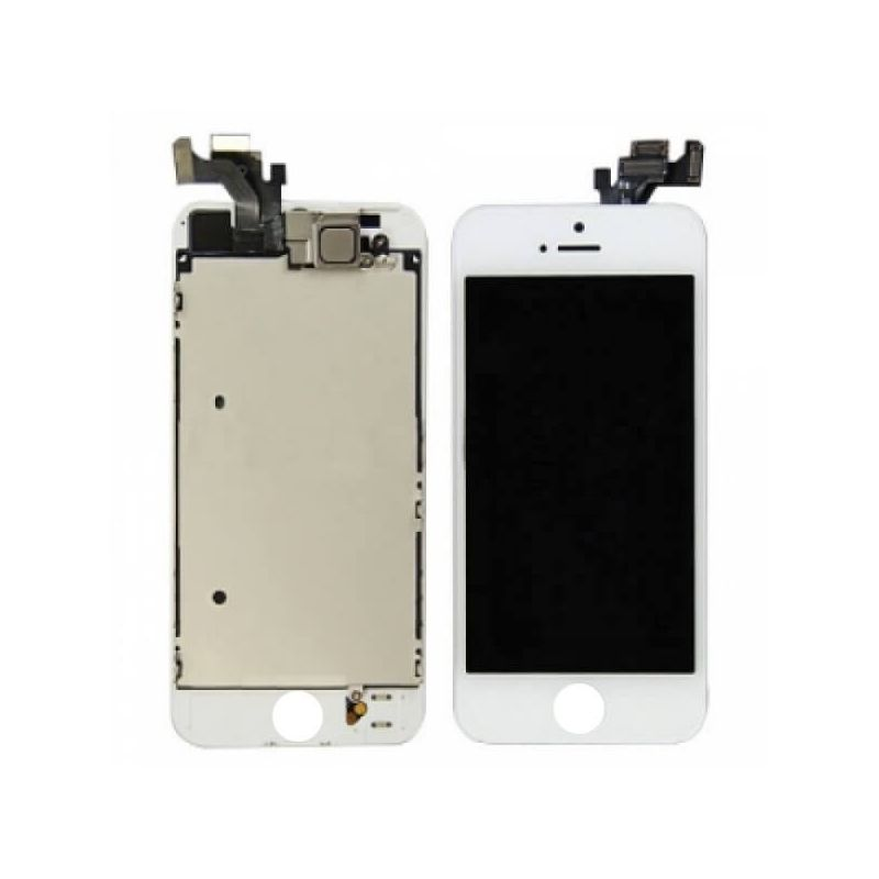 Original complete assembled Glass digitizer, LCD Retina Screen and Full Frame for iPhone 5 White
