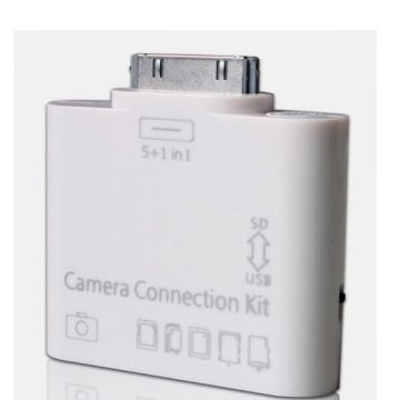 Kaartlezer Connection Kit 5 in 1 MicroSD-Kaart Camera Connection Kit + AV out iPad 1 & 2