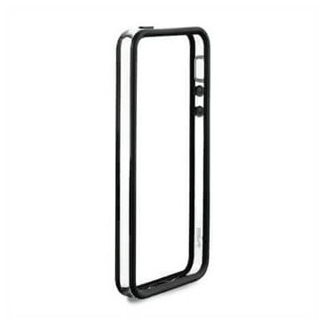 Zwart transparante bumper TPU iPhone 5C