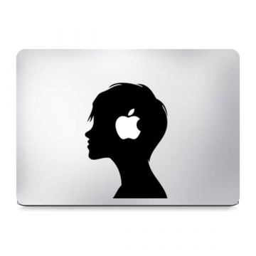 Sticker MacBook visage de profil