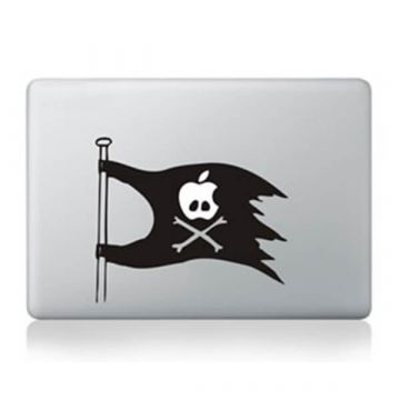 Pirate flag MacBook Sticker