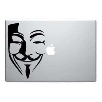 Masker anonymous MacBook sticker