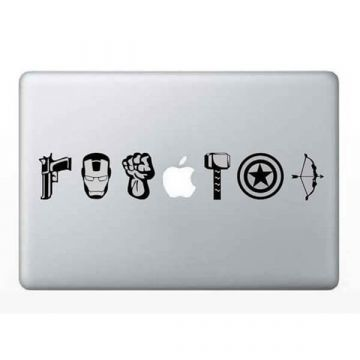 Avengers superhelden MacBook sticker