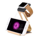 Goud aluminium docking station Apple Watch en iPhone