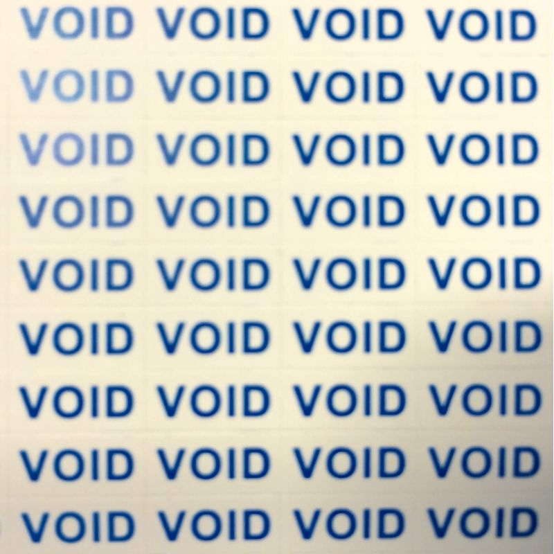"Pack de 300 Stickers de garantie ""VOID"""