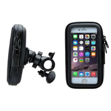 Black bicycle support for iPhone 6 Plus