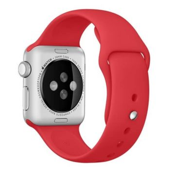 Rood siliconen bandje Apple Watch 42mm S/M M/L
