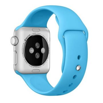 Blauw siliconen bandje Apple Watch 42mm S/M M/L