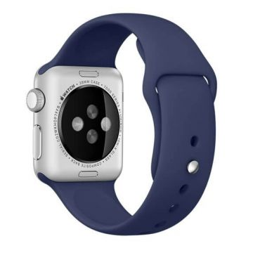Bracelet Apple Watch 44mm & 42mm Bleu Nuit S/M et M/L