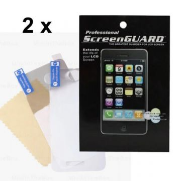 Pack 2X Protections écran Iphone 4/4S face AV AR brillant (sans packaging)