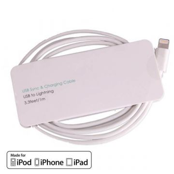 MFi Apple lightning witte kabel - usb kabel - iPod iPhone iPad