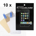 Pack 10X Protections écran Iphone 4/4S face AV AR brillant (sans packaging)