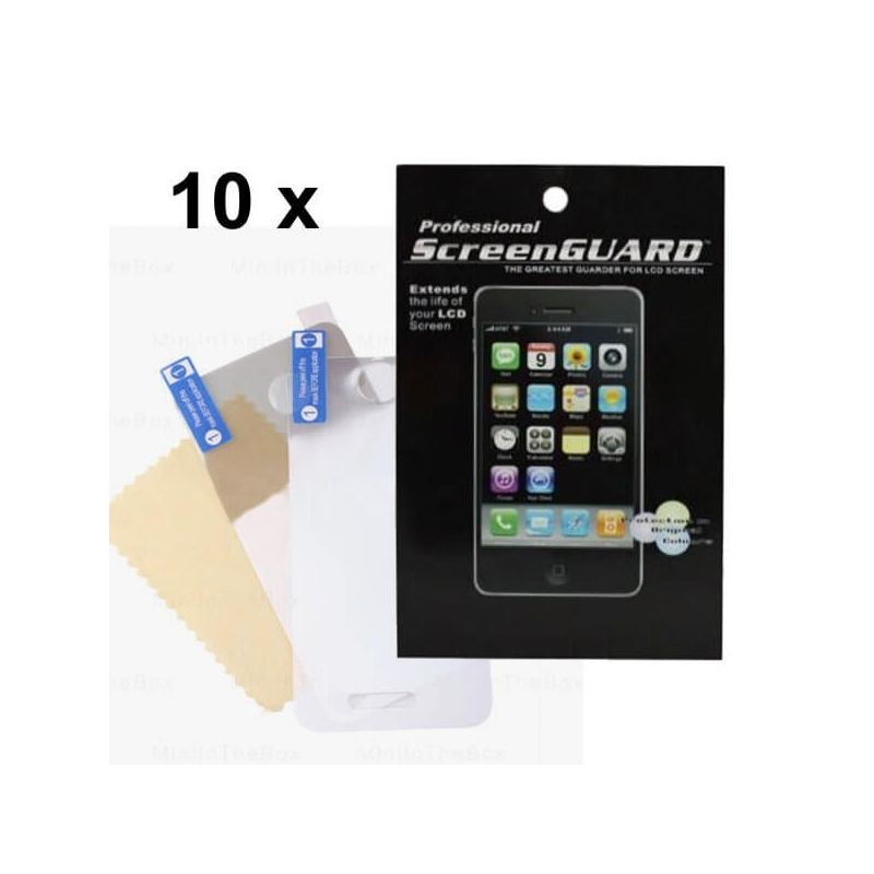 Pack of 10X Screen Protectors F&R face brilliant iPhone 4/4S (with packaging)