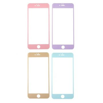 Carbon fiber colored tempered glass screen protector iPhone 6/6S