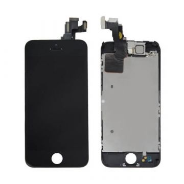 2nd Quality Glass digitizer complete assembled, LCD Retina Screen and Full Frame for iPhone 5C Black