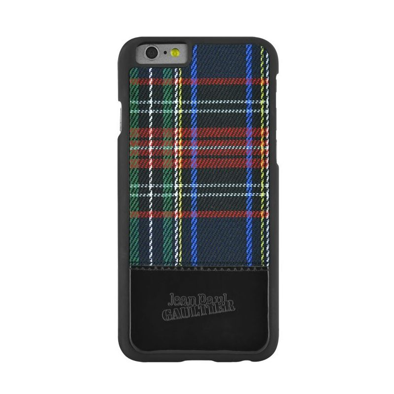 coque jean paul gaultier black tartan iphone 6 6s macmaniack. Black Bedroom Furniture Sets. Home Design Ideas