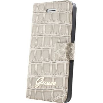 Guess beige croco book case iPhone 5/5S/SE