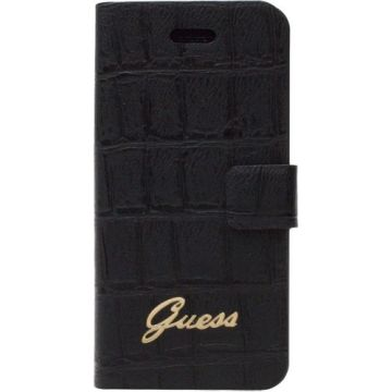 Guess zwarte croco book case iPhone 6 6S Plus