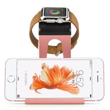Aluminium Hoco Rose Gold Docking station for Apple Watch 38 and 42mm and iPhone