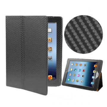 Carbon Black Flip Over Case for iPad 2/3/4