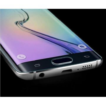 Gebogen tempered glass screen protector zwart Samsung Galaxy S6 Edge