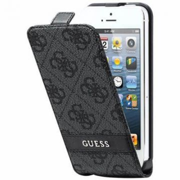 Guess grijze flip case iPhone 5/5S/SE
