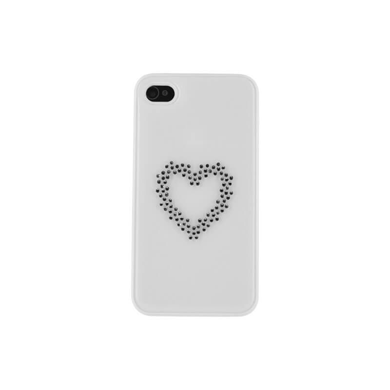 White Heart Swarovski Case iPhone 4/4S