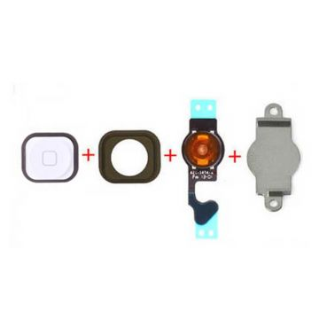 White Home Button Kit iPhone 5