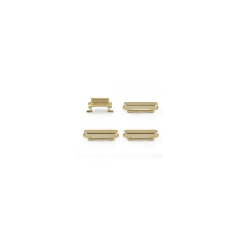 Set de 4 boutons ( Power, Volume +, Volume -, Vibreur) Gold pour iPhone 6 Plus
