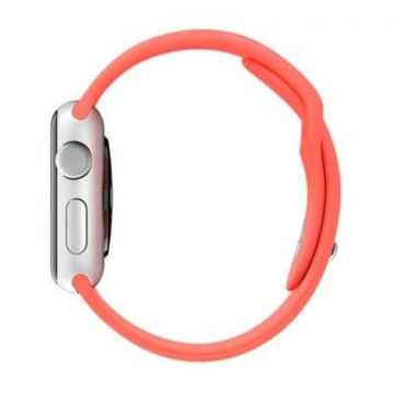 Rood roze bandje Apple Watch 38mm siliconen S/M M/L