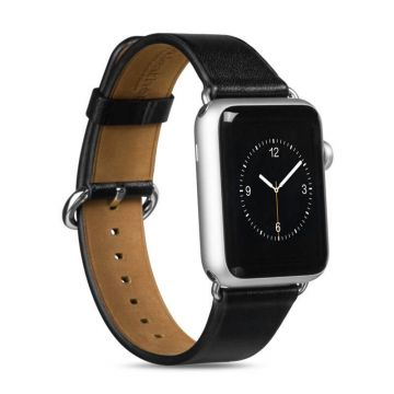Hoco zwart lederen bandje Apple Watch 42mm