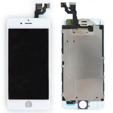 Complete 1st quality Glass digitizer, LCD Retina Screen for iPhone 6S white