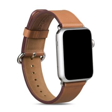 Hoco Brown Leather Apple Watch 42mm Strap