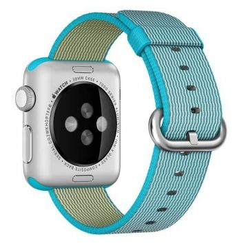 Bracelet Nylon Tressé Bleu Azur Apple Watch 38mm