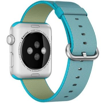 Scuba Blue Woven Nylon Band Apple Watch 42mm