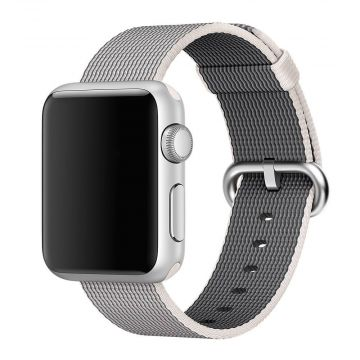 Bracelet Nylon Tressé Perle Apple Watch 38mm