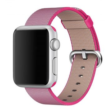 Pink Woven Nylon Band Apple Watch 42mm