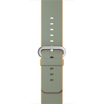 Gold/Royal Blue Woven Nylon Band Apple Watch 38mm