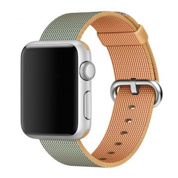 Bracelet Nylon Tressé Or/Bleu roi Apple Watch 42mm