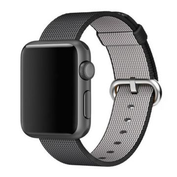 Bracelet Nylon Tressé Noir Apple Watch 38mm