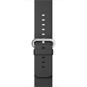 Bracelet Nylon Tressé Noir Apple Watch 42mm