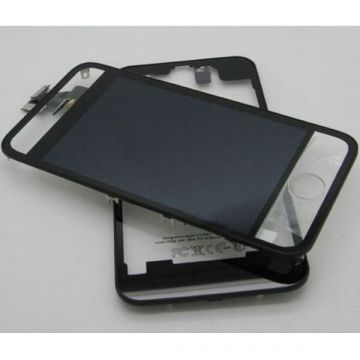Complete Kit: Glass Digitizer & LCD Screen & Frame & Backcover First Quality iPhone 4 Mirror Translucent