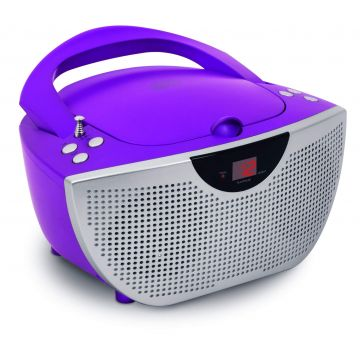 Bigben Purple Portable CD Player + 300 Stickers